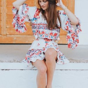 Misa Los Angeles Ximena Dress XS Floral Rose